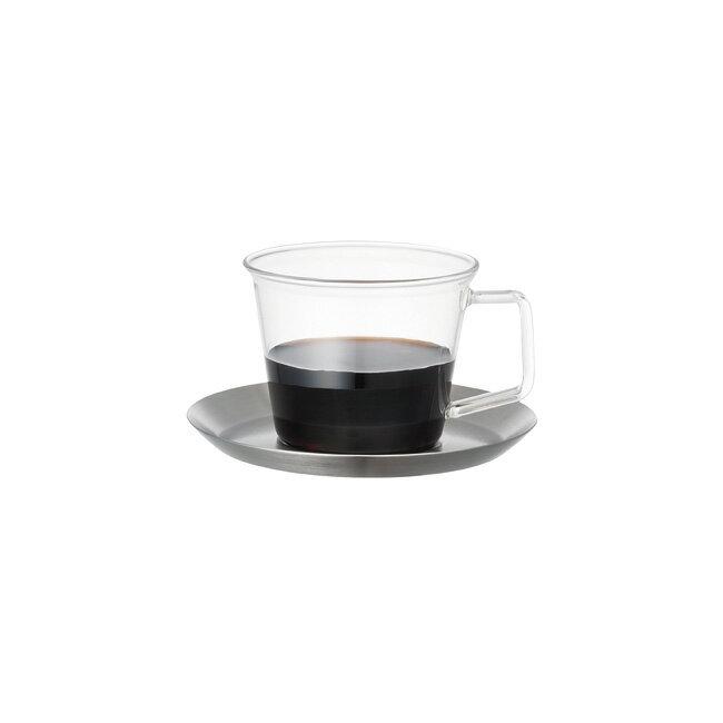 コーヒーカップ ソーサー KINTO キントー CAST(キャスト) ステンレス 23085 【 コーヒー セット カップ&ソーサー コップ 食器 キッチン用品 デザイン シンプル おしゃれ 】 ポイント10倍