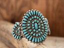 80s Vintage Indian Jewelry ズニ族 シルバー クラスター バングル