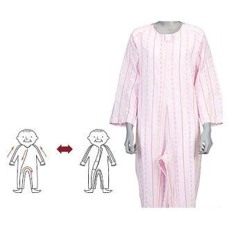 護理睡衣間接、軟體關懷睡衣男女兼用[薄、春天夏天]護理衣服護理用品(護理用品護理睡衣pajama睡衣睡衣)