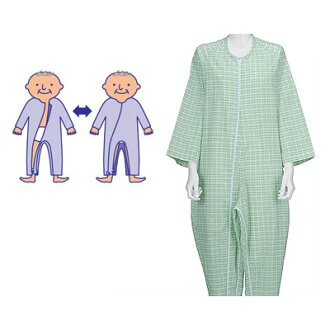 護理睡衣連接 fudow 睡衣 3-[男]、 [薄] 護理 (護理用品護理老人老的睡衣和老人) 的護理衣服睡衣