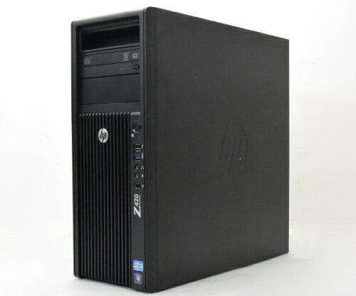 hp Z420 Xeon E5-1660 3.3GHz 8GB 500GBx2台構成 Quadro2000 DVDマルチ Windows7 Pro 64bit 【中古...