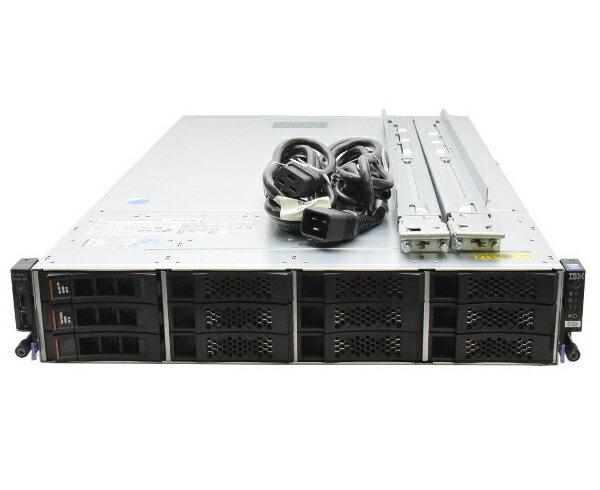 IBM System x3630 M4 Xeon E5-2470 2.3GHz*2 96GB 300GBx2台 (SAS3.5インチ/6Gbps/RAID1構成) AC*2 ServeRAID M5110 【中古】【20170609】:TCEダイレクト