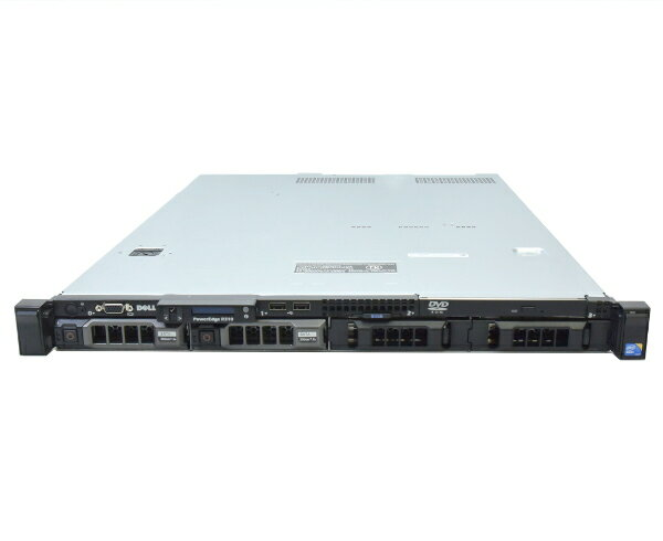 DELL PowerEdge R310 Xeon X3450 2.66GHz 8GB 250GBx2台(SATA3.5インチ/RAID1構成) DVD-ROM PERC H200A 【中古】【20170707】