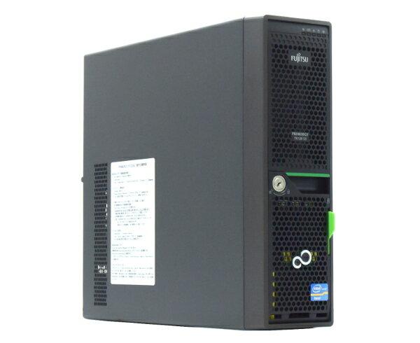 富士通 PRIMERGY TX120 S3 Xeon E3-1240 3.3GHz 8GB 300GBx3台(SAS2.5インチ/6Gbps/RAID6構成) DVD-ROM RAID 【中古】【20170814】:TCEダイレクト