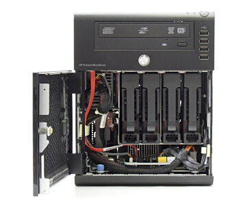 hp ProLiant MicroServer N36L Athlon2 Neo 1.3GHz 2GB 250GBx2台(SATA3.5インチ/RAID1構成) リモートカード DVDマルチ RAID 【中古】【20180119】