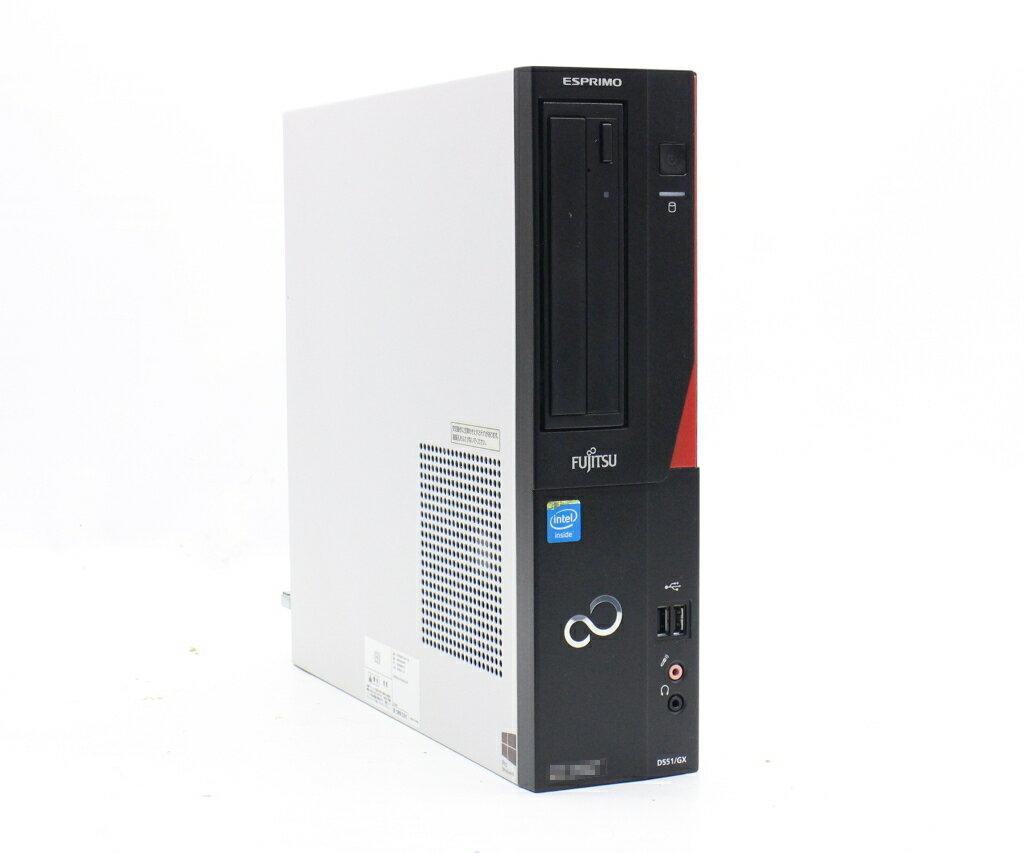 パソコン, デスクトップPC  ESPRIMO D551GX Celeron G1610 2.6GHz 4GB 500GB(HDD) DVI-D RGB DVD-ROM Windows10 Pro 64bit 20200625