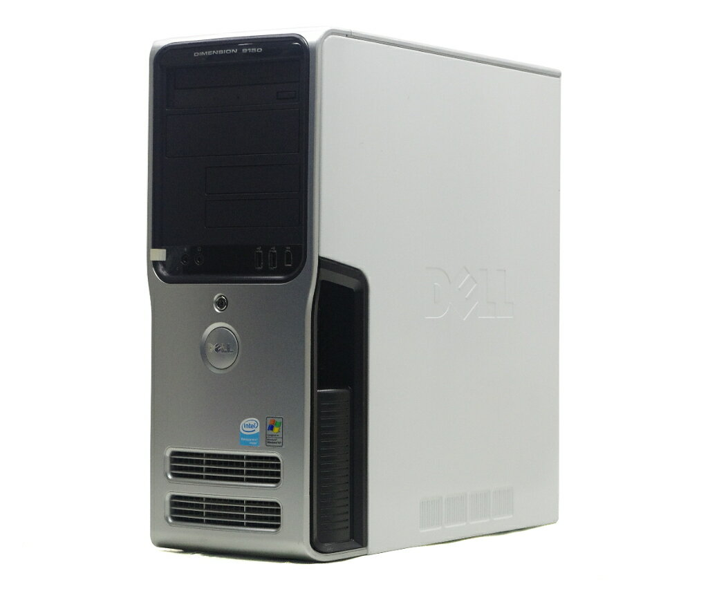 パソコン, デスクトップPC DELL Dimension 9150 Pentium 4 640 3.2GHz 4GB 160GB(HDD) GeForce 6800 DVD-RW Windows XP Pro 32bit 20210120
