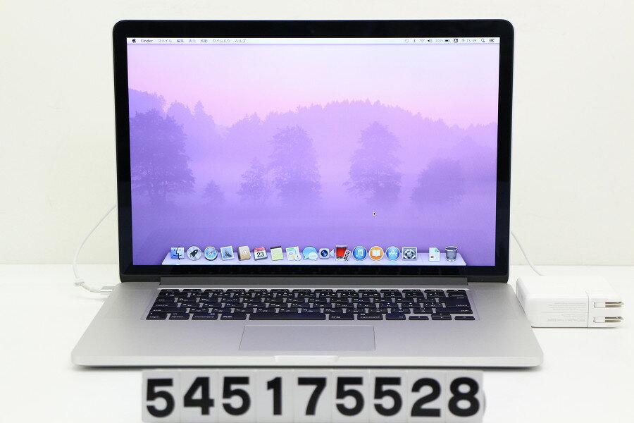 Apple MacBook Pro Retina A1398 Late 2013 Core i7 4750HQ 2GHz/16GB/256GB(SSD)/15.4W/WQXGA(2880x1800)/MacOSX10.9.5【中古】【20170524】:TCEダイレクト