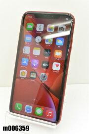 白ロムSIMフリーdocomoSIMロック解除済AppleiPhoneXR64GBiOS14.2RedMT062J/A初期化済【m006359】【中古】【K20201209】