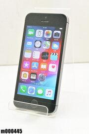 白ロムSIMロック解除済AppleiPhoneSE64GBiOS12.1SpaceGrayMLM62J/A初期化済【m000445】【中古】【K20190314】