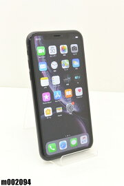 白ロムSoftBankAppleiPhoneXR128GBiOS12.4ブラックMT0G2J/A初期化済【m002094】【中古】【K20190831】
