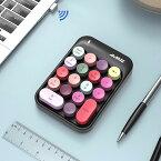 テンキー ワイヤレステンキー かわいい テンキー タイプライター ワイヤレスで持ち運びに便利!「NumLock」キーが付き 経理 会計 人事 総務 エクセル 決算 USBレシーバー付き 18キー 軽量 コンパクト 小型