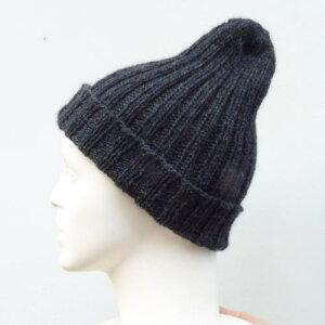 ツリーハウスフォレストで編む2目ゴム編みのとんがり帽子 ニットキット オリムパス メンズ キッズ 人気キット