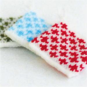 エコたわしを作ろう♪カフェキッチンで編む使いやすいスクエアタワシ ひし形模様【ニットキット】