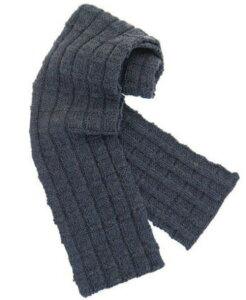 男性用にもOK!ふっくらツィード毛糸で編む簡単模様のマフラー【ニットキット】【手編みキット...