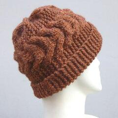 ●編み針セット●【ハマナカ・リッチモア】男性用にも♪スターメで編む横太ケーブル模様の帽子...