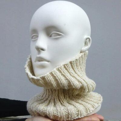 【オリムパス】初心者さんもOK!男性用にもオススメ!まっすぐ編むだけの帽子にもなる簡単ネッ...