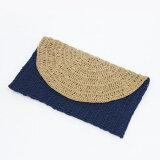 笹和紙で編む2色使いが素敵なクラッチバッグ手編みキットダルマ横田毛糸【ネコポス便利用不可】