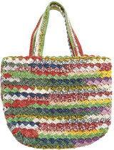 ナイフメーラで編む石垣編みのミニバッグ手編みキット内藤商事【ネコポス便利用不可】