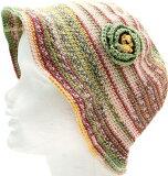 ナイフメーラで編むつば付き帽子手編みキット内藤商事【ネコポス便利用不可】