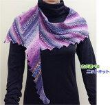 オパール毛糸で編むショーレット ショール 手編みキット Opal毛糸 編み図 編みものキット