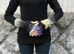 野呂英作のくれよんで編む段染めが可愛い手袋