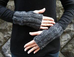 編物初心者さんOK!スターメツィードで編むシンプルな指なし手袋【ニットキット】【手編みキッ...