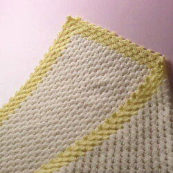 優しい色合いで赤ちゃんをあたたかく包む・・・かぎ針で編むベビー用おくるみアフガンニットキットおくるみ/手編みキットおくるみ/レシピ】【ベビー用おくるみ/かぎ針編みおくるみ【ネコポス便利用不可】