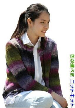 ●編み針セット●野呂英作のくれよんで編むぼたんなしのカーディガン 手編みキット