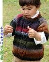 ●編み針セット●野呂英作のくれよんで編むキッズ用ラグラン袖のセーター100cm 手編みキット 子供用 編み図 編みものキット