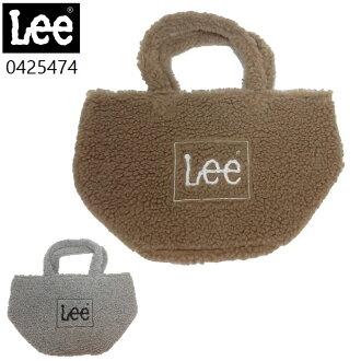 Leeボアミニトートバッグもこもこ無地メンズレディース手提げバッグ『コンパクトサイズ』0425474