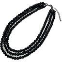 【ゴシックロリータ】黒 ブラック 3連 チョーカー ネックレス