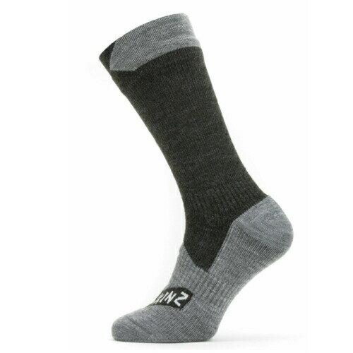 メンズウェア, 靴下 5 SEALSKINZ Waterproof All Weather Mid Length Sock BlackGrey Marl size-L 11100061010130 L