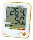 【シンワ】 [73055] デジタル温湿度計 D?1 熱中症注意 シトラスオレンジ