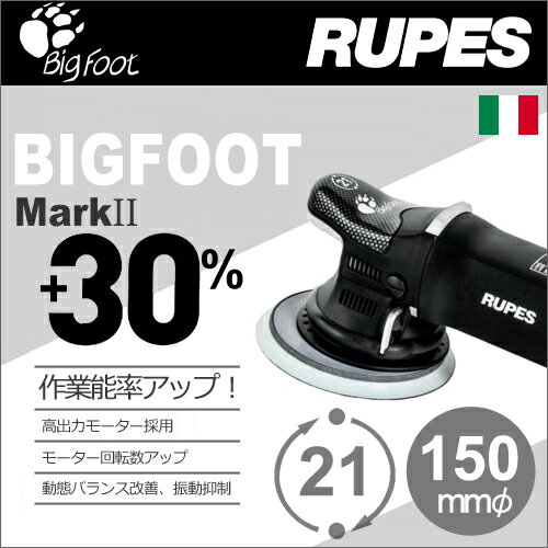 [イタリア] RUPES (ルペス) [LHR21ES/MarkII] 電動 ダブルアクション サンダーポリッシャー 『BigFoot』 (ビッグフット):テクノネットSHOP