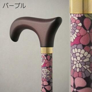 BASICハイブリッド折りたたみ杖(プルストップ式ステッキ3つ折り)伸縮機能付(有)テクノケア