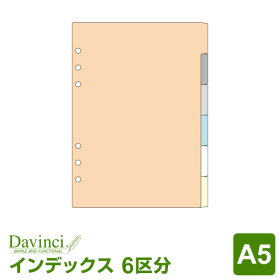 【ダ・ヴィンチリフィル】A5サイズカラーインデックス(6区分)