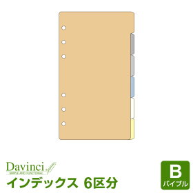 【ダ・ヴィンチリフィル】聖書サイズカラーインデックス(6区分)