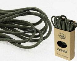 [CEDAR]高強度ショートブーツ用靴紐登山ブーツ用シューレース1.5mペア2本セット(ミリタリー・グリーン)