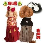 【メール便選択可】犬服袴晴れ着お正月お祝い結婚式正装着物【犬服】【コスプレ】【犬服セール】【RCP】写真撮影やハロウィンにも♪