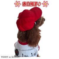 【犬服】春犬服国産赤白帽【Airballon】犬運動会体操服帽子チワワダックスプードル柴犬小型犬中型犬メール便2枚までOK【RCP】P20Feb16