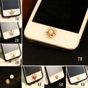 デコ パール ホームボタンiPhone6 plus ipad mini...