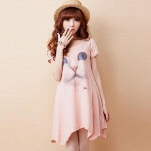 メール便で送料無料 春 夏 tシャツワンピース ゆる 大きいサイズ ロングワンピ かわいい 半袖T...