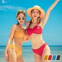 水着 レディース ビキニ バンドゥ ブラ ショーツ 2点セット スカラップ 韓国 ファッション SH...