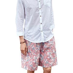 ハーフパンツ メンズ 単品 大人 上品 春夏 韓国 ブランド ファッション 海外 インポート 花柄 SHEBEACH ROAD PANTS シービーチ 正規品 ひざ丈 かっこいい おしゃれ ゆったり 個性的 大人 夏 海 ピンク ワンサイズ