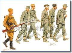 マスターボックス 1/32 MB3517 独・捕虜5体 + ソ連歩兵1体 1944年東部戦線(予約:2010年11月...