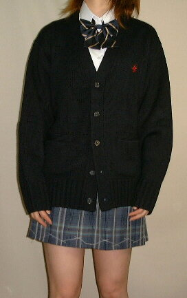 912-01ビバリーヒルズポロクラブ紺・カーディガン