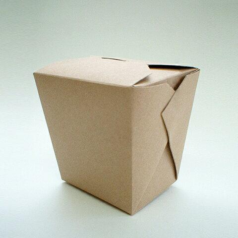 アメリカ製 元祖FOLD-PAK社 【フードペイル#64 ハンドルなし ブラウン色 クラフト 150個入り】 1814ml フードボックス 電子レンジ 耐水耐油 汁物OK サイドメニュー フードペール ドギーバッグ doggy bag doggie bag