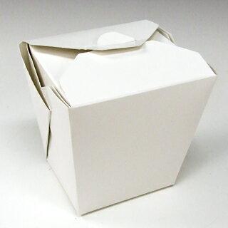 アメリカ製 元祖FOLD-PAK社 【フードペイル#64 ハンドルなし 白無地 150個入り】 1814ml フードボックス 電子レンジ 耐水耐油 汁物OK サイドメニュー フードペール ドギーバッグ doggy bag doggie bag