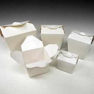 アメリカ製 元祖FOLD-PAK社 【フードペイル#26 ハンドルなし 白無地 450個入り】 737ml フードボックス 電子レンジ 耐水耐油 汁物OK サイドメニュー フードペール ドギーバッグ doggy bag doggie bag